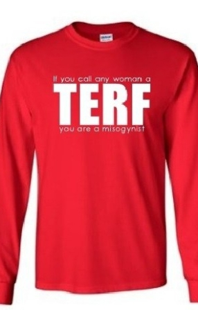 TERF red shirt cut off